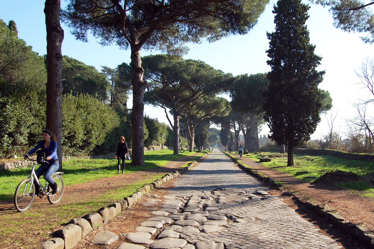 spring in rome bike appia