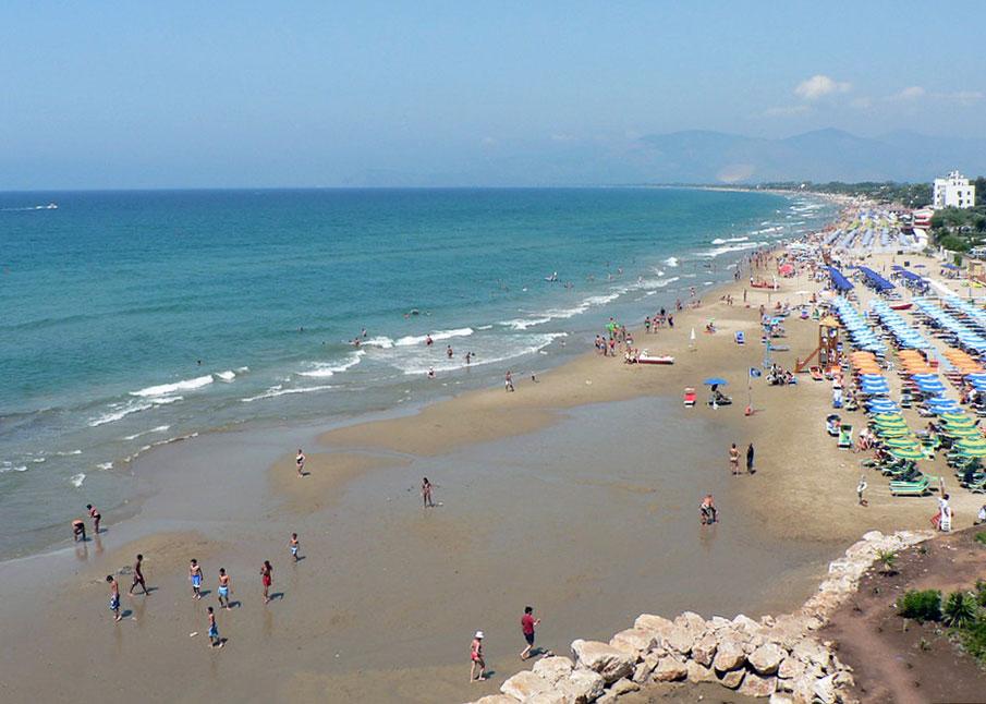 beach near rome
